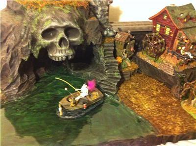 halloween village displays | Skull Island Halloween Village Display Platform | eBay