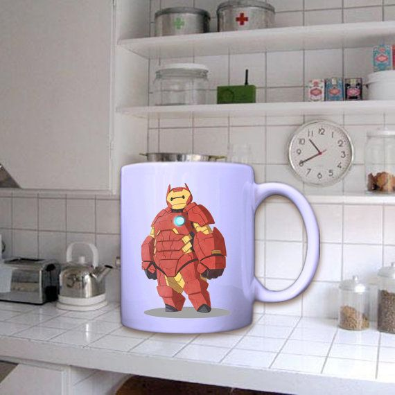 Iron Baymax In Mug by dirimug on Etsy