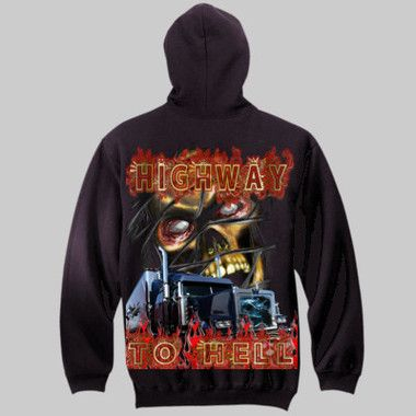 Highway To Hell Pull-Over Hoodie $A70.00 Sizes: S-3XL Printed Back & Front http://www.wildsteel.com.au/highway-to-hell-hoodie/