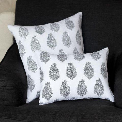 Black Paisley Cushion 45cm