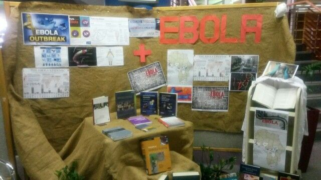 Florida Library Ebola Display