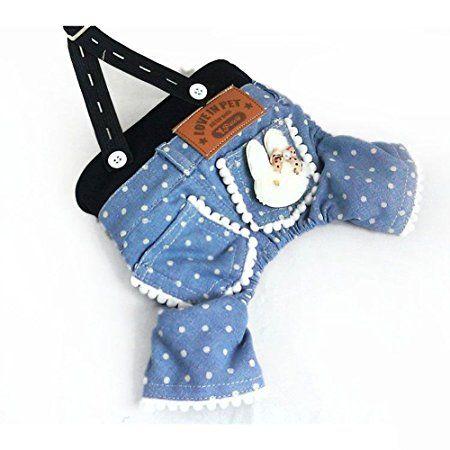 spritech (TM) Haustier Hund Kleidung Freizeit Strapse Jeans geeignet für Frühjahr und Sommer tragen  http://amzn.to/2qTVVSC