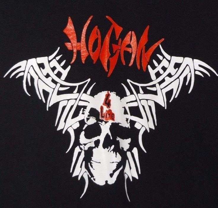 90s WCW nWo Wrestling Hogan 4 Life Skull Graphic Men's Black Shirt M WWE WWF VTG #Jerzees