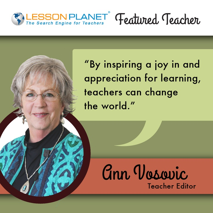 LessonPlanet.com Featured Teacher -- Ann Vosovic
