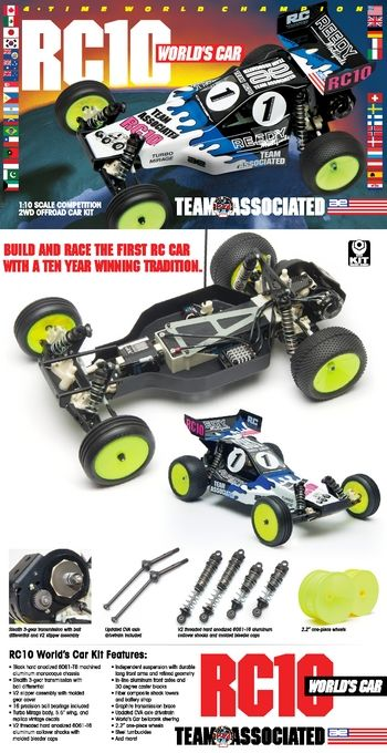 RC10 World's Car Kit: Team Associated - Champions By Design - Nitro and Electric RC Cars