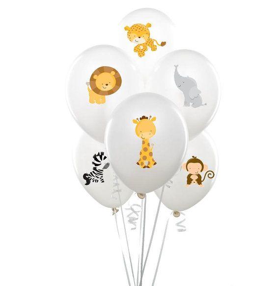Pegatinas de globos de animales de zoológico descarga instantánea, cumpleaños impresión animal, Animal cumpleaños, cumpleaños selva, ducha de bebé de la selva, animalito