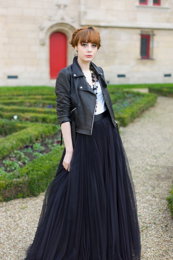 maxi + leather jacket #theeverygirl