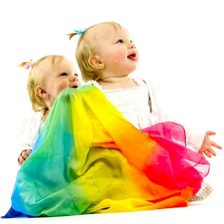Sarah's Silks | Rainbow Playsilks | Entropy