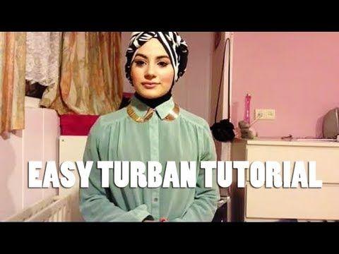Easy turban style hijab tutorial! - YouTube