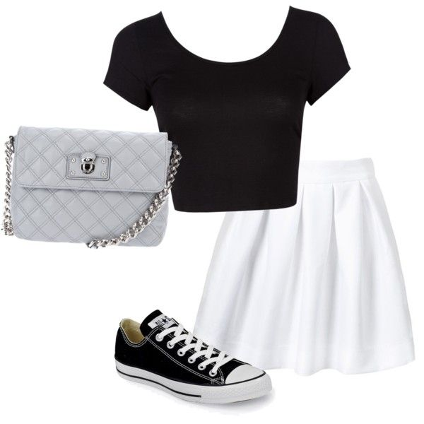 i would so wear this. especially love the skirt with converse. :)