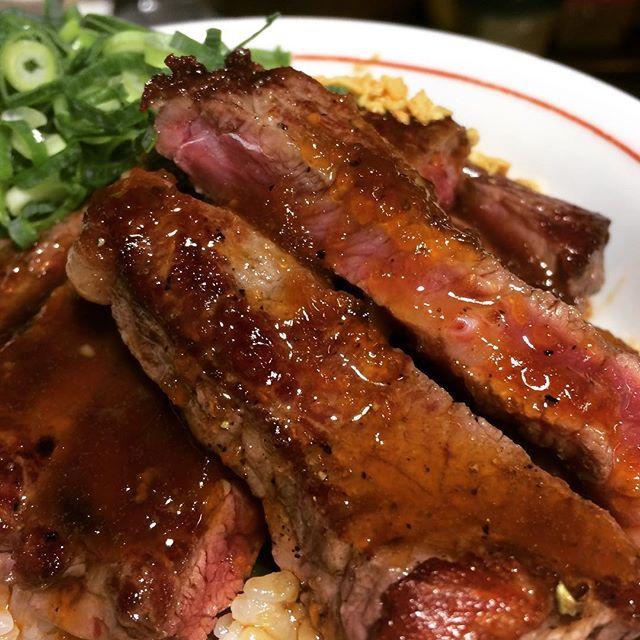 #一宮#とんかつ屋#ステーキ#丼#牛#肉#サーロイン#鰻#タレ#バター#テリヤキソース#ダブル#ソース#ガーリックチップ