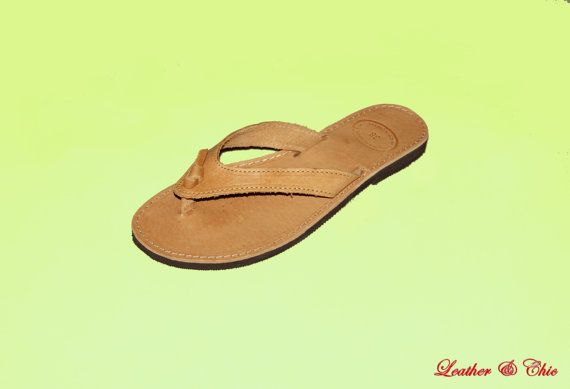 Leather Sandal Conbo V by LeatherandChic on Etsy