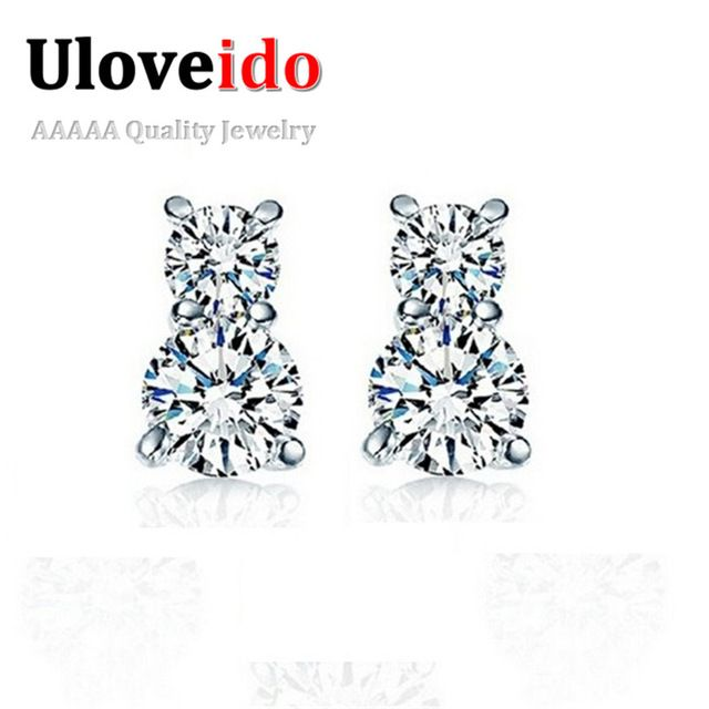 2016 Sale Crystal Brincos Women's Earings Accessories 925 Sterling Silver Earrings for Women Jewelry Bijouterie Uloveido YDF01