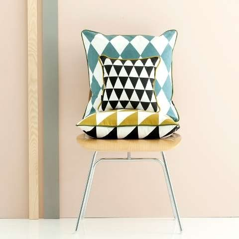 Ferm Living Large Geometry Cushion - Rose - Femkeido Shop
