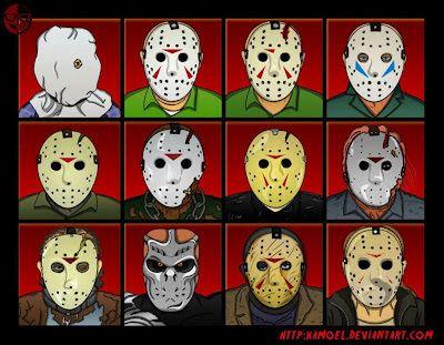 JaviFlames Blog: Viernes 13. Evolución de la mascara de Jason Voorhees a lo largo de la serie de películas