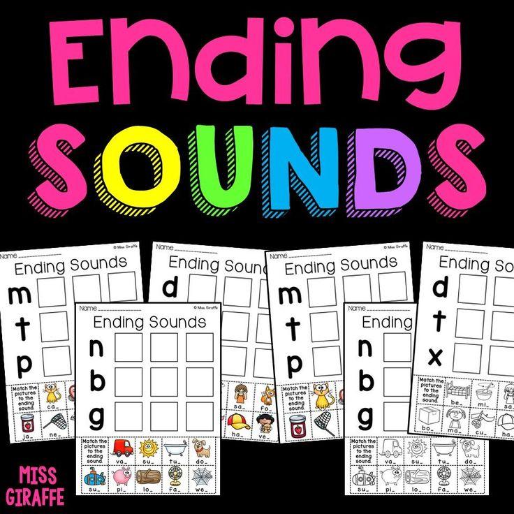 Ending Sounds Worksheets CVC Words Cvc words, Words