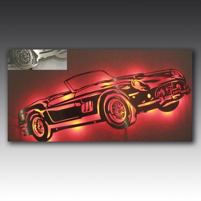 Laser cut and bespoke for you, this art work shows off a classic Ferrar