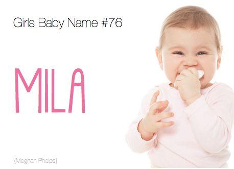 88 best baby names images on pinterest babies nursery baby baby baby name mila urtaz Gallery