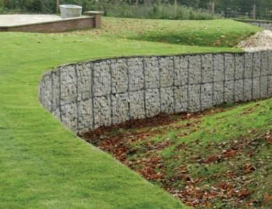 gabions examples | Gabion Retaining Wall Blocks Simple Low Cost Stone Retaining Walls