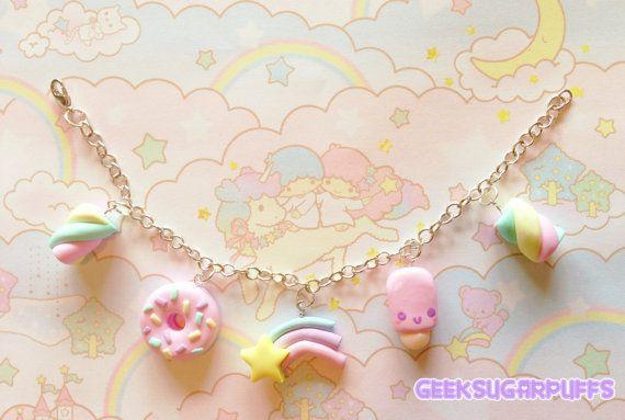 Kawaii Bracelet Pink Donut Shooting Star Popsicle