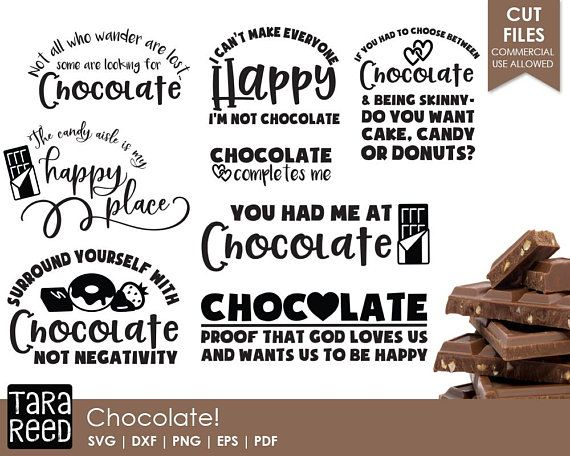 PNG and DXF Files for Printing Cutting and Design SVG I Choose Chocolate