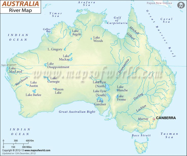 Australia Major Rivers Map