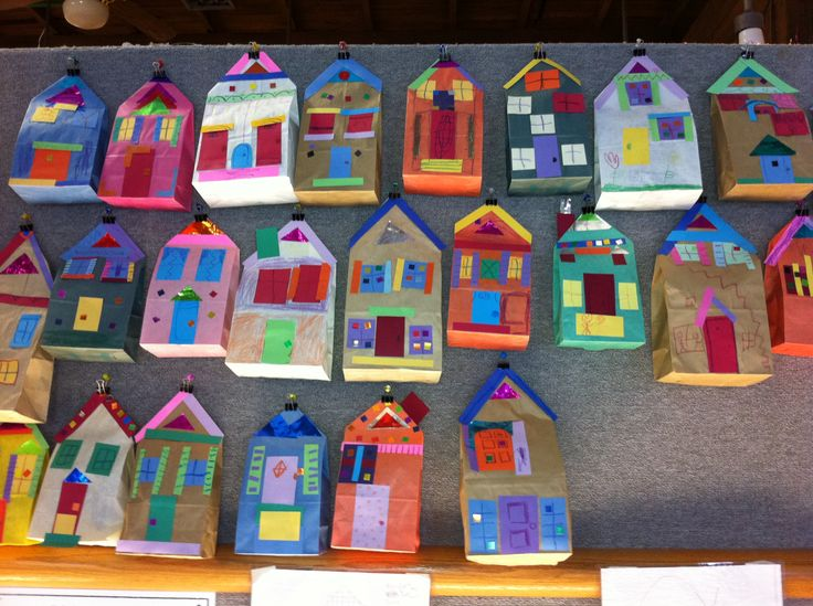 paperbag houses for our community unit!
