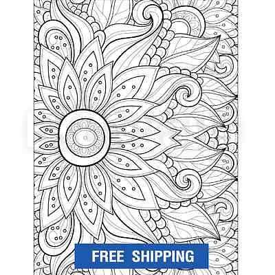 Mandala Designs Coloring Books For Adults Anti Stress Relief Art Therapy Fun New