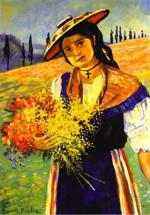 expressionism-art: Young Girl with Flowers via Francis...