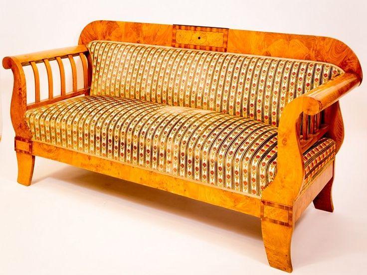 Sofa Esche massiv und furniert 1830 - Antiquitäten Daniel C. Nagel | Bad Honnef …