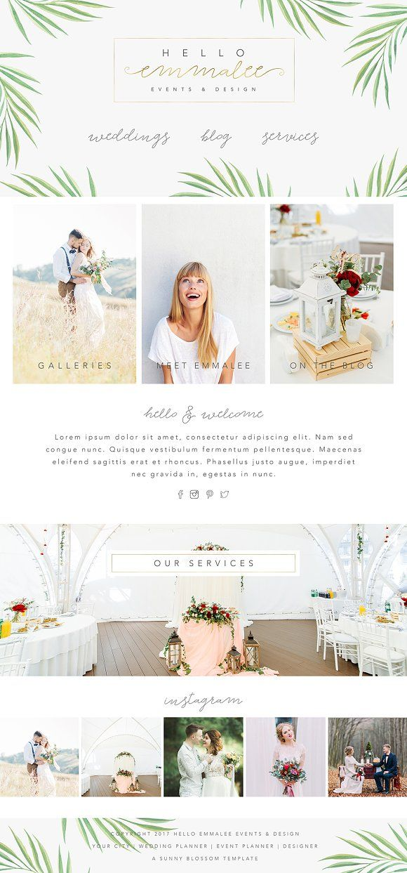 Wix Website Design Template by Sunny Blossom Designs on @creativemarket