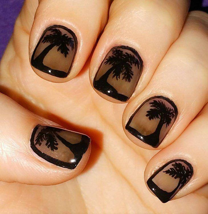 palm tree nail art designs 2017 | style you 7