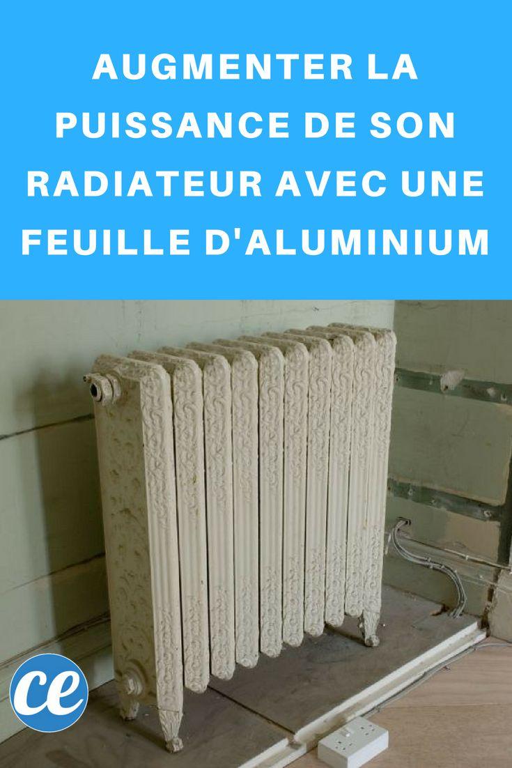 Augmenter la Puissance de son Radiateur avec une Feuille d'Aluminium.