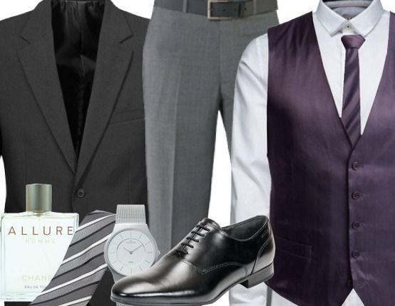 Eleganter #Businesslook mit #Weste und #Krawatte ♥ Hier kaufen: http://stylefru.it/s642028 #lila #sakko