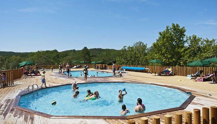 2 piscines dont une chauffée, et une pataugeoire au Village Huttopia Sud Ardèche *** – Vagnas (Ardèche)