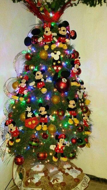 Mi rbol de navidad tematico de mickey y mimi mouse - Arbol tipico de navidad ...