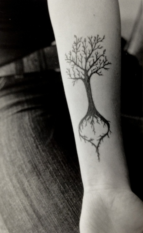 tree roots tattoo, want this with a weeping willow tree
