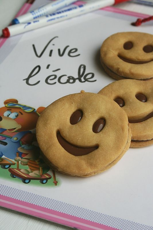 Sablés smilys au chocolat - Biscuits sourire 1