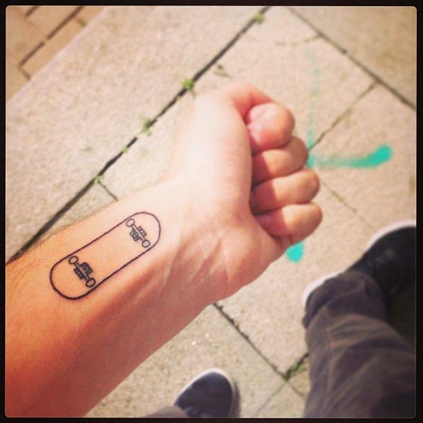 Boyfriend's first tattoo, so dope!