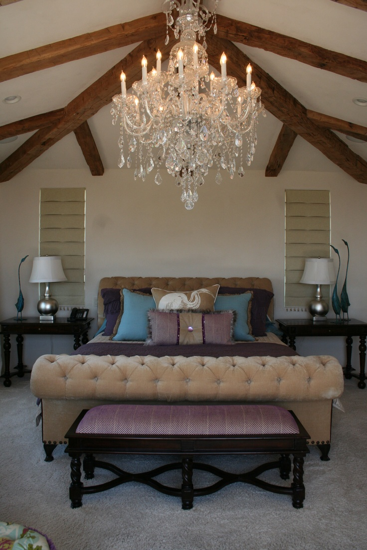 A Bedroom With Vaulted Ceilings Is Perfect For A Chandelier. When Hanging A  Chandelier In