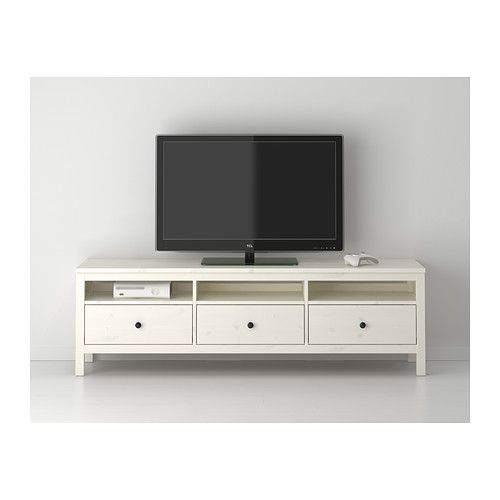 Hemnes Tv Unit Gray-Brown : HEMNES TV unit IKEA Solid wood has a natural feel Large drawers make