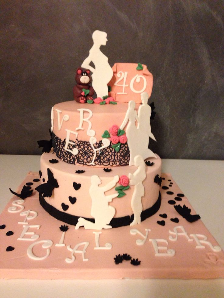 Love story cake