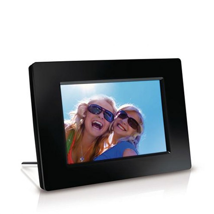 """PHILIPS Digital Photo Frame 17.8cm/7"""" (SPF1237)  Keep reminding yourself of some of the best moments of your life with this amazing product from Philips. It takes the experience of viewing images to a whole new level. It comes with a host of advanced features such as Imagen Pro, RadiantColor, Auto on off display at Preset times and Automatic slideshow from memory cards. It can also function as a clock when it's not used as a photo frame."""