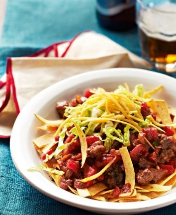 this 'Frito' Chilli Pie. Lean ground beef is seasoned with Tex-Mex ...