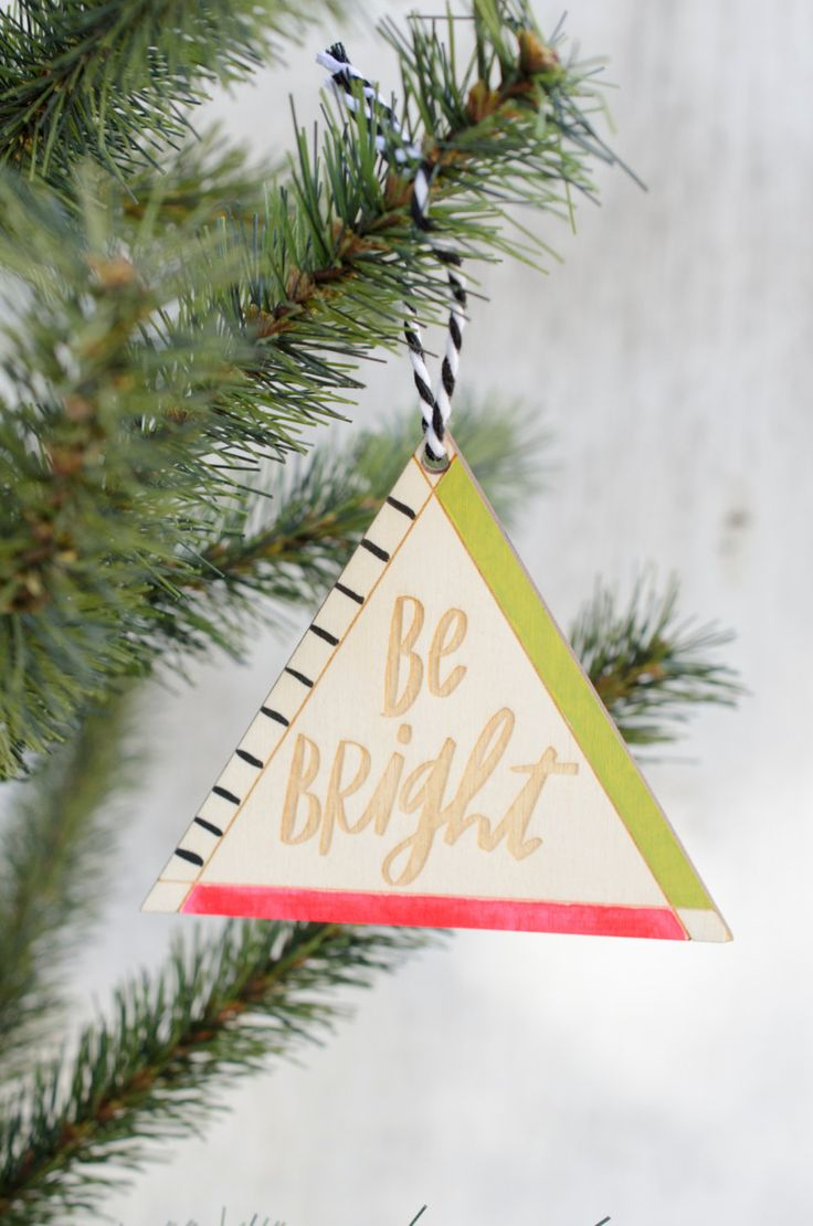 Handpainted Wooden Geometric Quote Christmas Ornaments, Personalized  Ornament, Gift For Her, Stocking Stuffers, Holiday Decor