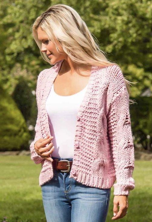 http://www.dressboutique.com/pink-cable-knit-cardigan/
