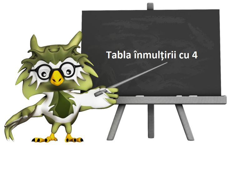 Tabla înmulțirii cu 4 [Video]
