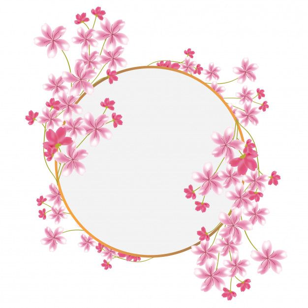 Multi Purpose Sakura Flower Circle Frame Flower Circle Frame Sakura Flower Flower Circle