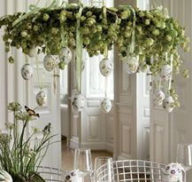 Easter decorations with hand-decorated porcelain eggs from Royal Copenhagen