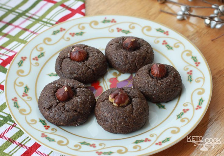 Chocolate Hazelnut Cookies, Christmas Keto Cookies